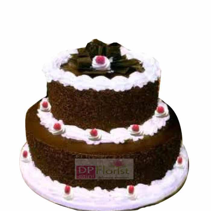 2 Tier 3 Kg Black Forest Cake